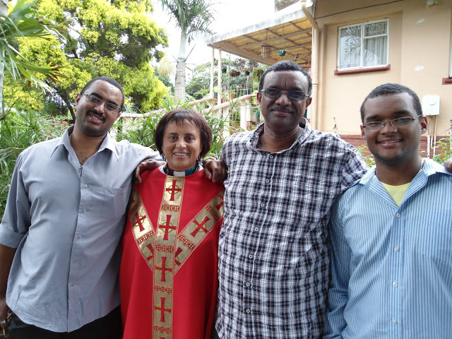 Revd Dr Delysia Timm is supported by her loving husband Kelvin and her two sons Evan and Lance in her ministry.